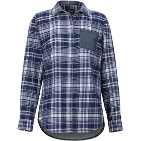 Marmot Lakota Lightweight Flannel Langarm Shirt Damen bright steel/storm chambray